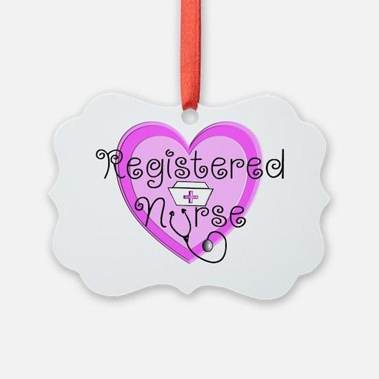 RN Heart Pink Stetho cap Ornament