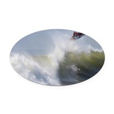 Quicksilver Surfing Oval Car Magnet