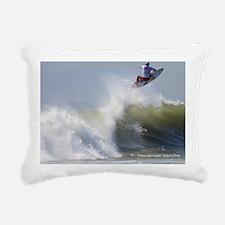 Quicksilver Surfing Rectangular Canvas Pillow
