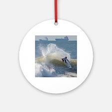 Quicksilver Surfing Round Ornament