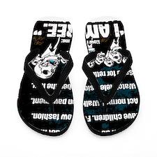 Conformity: I am Free. (No Flag, Blue) Flip Flops