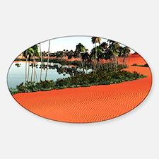 sah_shower_curtain2 Sticker (Oval)
