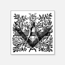 "Masonic Working Tools with  Square Sticker 3"" x 3"""