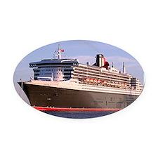 Cruise Ship 2 Oval Car Magnet