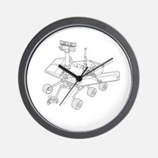 Mars Rover They See Me Rovin They Hatin Wall Clock