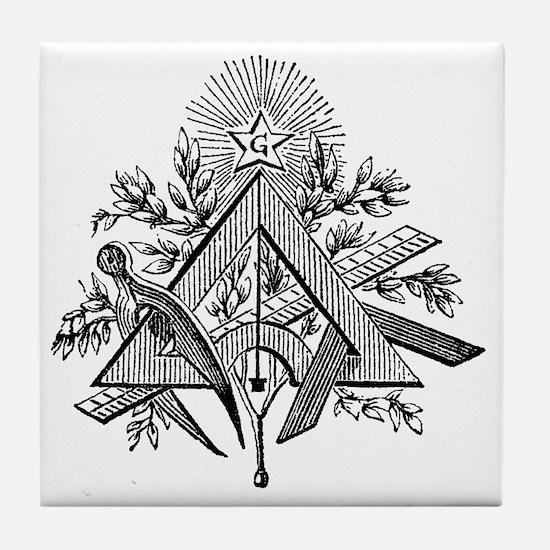 Working Tools Woodcut Tile Coaster