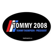 Tommy Thompson for President '08 Oval Decal