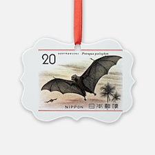 1974 Japan Bat Postage Stamp Ornament