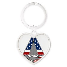 F-111G Aardvark Heart Keychain