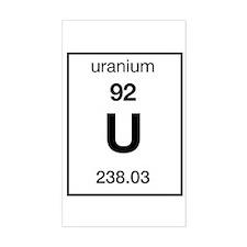 Uranium Rectangle Decal