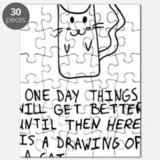 Here is the drawing of a cat_CP Puzzle