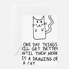 Here is the drawing of a cat_CP Greeting Card