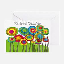 Retired Teacher Whimsical trees Blan Greeting Card