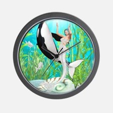 tmdwtd__shower_curtain2 Wall Clock