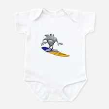 Funny Surfing Shark Infant Bodysuit