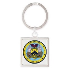 uss reeves cg patch transparent Square Keychain