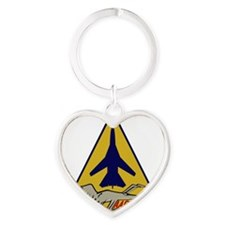 F-111F Aardvark Heart Keychain