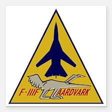 """F-111F Aardvark Square Car Magnet 3"""" x 3"""""""