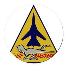 F-111F Aardvark Round Car Magnet