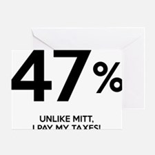 47, percent Greeting Card