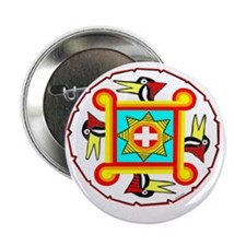 "SOUTHEAST INDIAN DESIGN 2.25"" Button"
