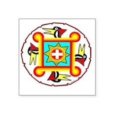 "SOUTHEAST INDIAN DESIGN Square Sticker 3"" x 3"""