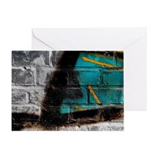 Graffiti Wall Greeting Card