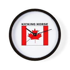 Cute Canadian horse Wall Clock