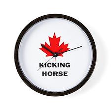 Unique Canadian horse Wall Clock