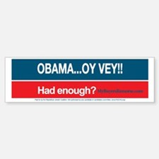 Obama... Oy Vey!!  My Buyer's Rem Sticker (Bumper)
