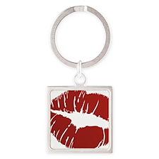 Kiss Square Keychain