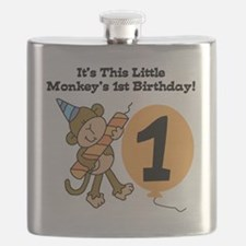 Little Monkey 1st Birthday Flask