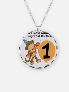 Little Monkey 1st Birthday Necklace