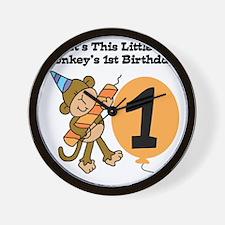 Little Monkey 1st Birthday Wall Clock