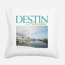 Destin Harbor Square Canvas Pillow
