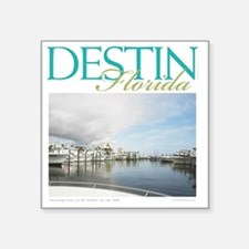"Destin Harbor Square Sticker 3"" x 3"""