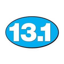 13.1 HALF MARATHON SHOP Oval Car Magnet