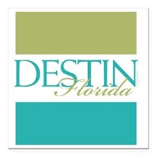 "Destin Florida Square Car Magnet 3"" x 3"""