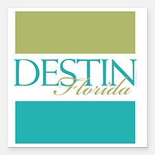 "Destin Florida Square Car Magnet 3"" x 3"""