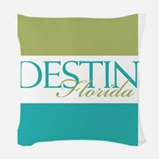 Destin Florida Woven Throw Pillow