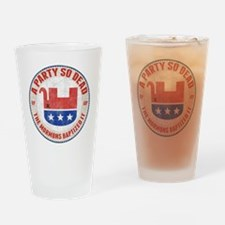 gop-eleph-dead-T Drinking Glass