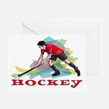 Hockey player Greeting Card