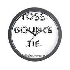 Toss. Bounce. Tie. Wall Clock