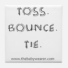 Toss. Bounce. Tie. Tile Coaster
