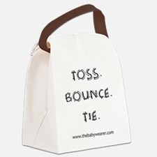 Toss. Bounce. Tie. Canvas Lunch Bag