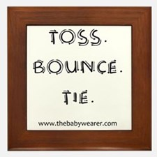 Toss. Bounce. Tie. Framed Tile