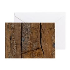 Wood Plank Look Greeting Card