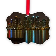 Full moon over San Diego Ornament