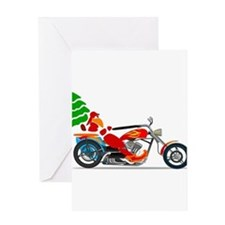 Biker Santa Greeting Cards
