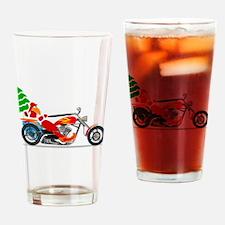 Biker Santa Drinking Glass
